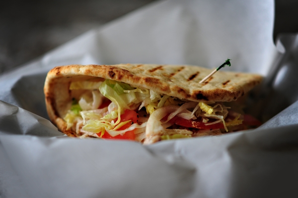Grilled Pitas stuffed with fresh ingredients