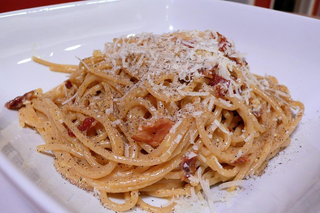 spaghetti alla spaghetti carbonara roman style spaghetti spaghetti ...